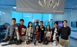 group of BIE students on industry tour